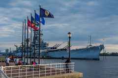 USS New-Jersey Lizenzfreie Stockbilder