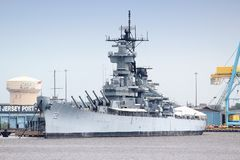 USS New Jersey Stock Afbeeldingen