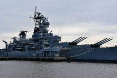 USS New Jersey BB-62 in Camden, New Jersey Stock Photo