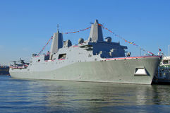 USS NEW YORK on November 7, 2009 Stock Image