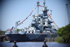 USS Nord-Carolina Lizenzfreies Stockbild
