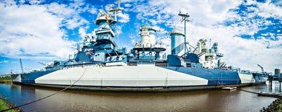 USS North Carolina panorama arkivbild