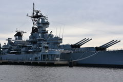 USS Nowy bydło - bydło BB-62 w Camden, Nowym - Obrazy Stock