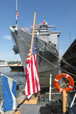 The USS Oak Hill in New York City. For Fleet Week 2014 Royalty Free Stock Photography