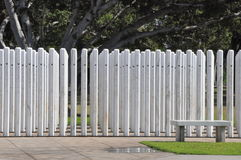 USS Oklahoma Memorial in Oahu, Hawaii Stock Photography