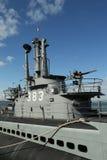 USS Pampanito,一艘Balao班的柴油电动潜水艇赢得了二战服务的六个争斗星 免版税图库摄影
