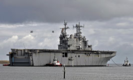 The USS Peleliu (LHA-5) Royalty Free Stock Image