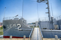 USS Pueblo AGER-2 at the Victorious Fatherland Liberation War Museum. Pyongyang, DPRK - North Korea. USS Pueblo AGER-2 at the Victorious Fatherland Liberation Royalty Free Stock Photography