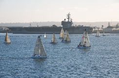 USS Ronald Reagan Stock Image