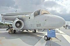 Uss约克镇:洛克希德S-3B北欧海盗 库存照片