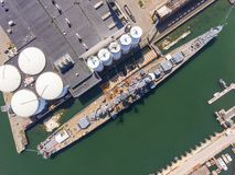 USS Salem CA-139 ciężki krążownik, Quincy, MA, usa fotografia stock