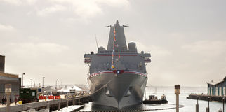 USS San Diego Commissione Fotografia Stock