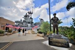 USS-Schlachtschiff-Missouri-Denkmal lizenzfreies stockbild