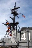 USS situado a mitad del camino Imagen de archivo