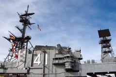 USS situado a mitad del camino Fotos de archivo libres de regalías