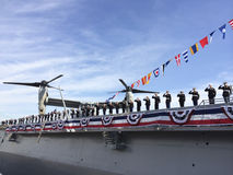 USS Somerset Commissioning Immagine Stock