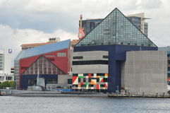 USS Torsk and National Aquarium in Baltimore Stock Image