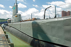 USS Torsk Submarine in Baltimore Inner Harbor Stock Photo