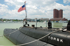 USS Torsk Submarine in Baltimore Inner Harbor Stock Photos