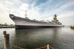 USS Wisconsin. The USS Wisconsin as she sits in Norfolk Virginia stock images