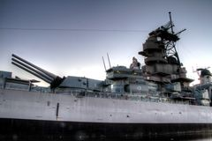 USS Wisconsin Stock Photography
