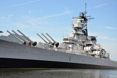 USS Wisconsin Battleship, Norfolk Royalty Free Stock Photos