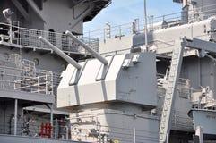 USS Wisconsin Linienschiff, Norfolk Stockfotografie