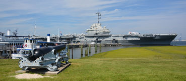 USS Yorktown lizenzfreies stockbild