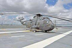 USS Yorktown : Hélicoptère de Sikorsky Photographie stock libre de droits