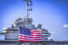 USS Yorktown Needs Repairs Royalty Free Stock Image