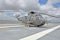 USS Yorktown: Sikorsky Helicopter Royalty Free Stock Photography