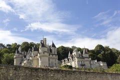 Usse城堡在卢瓦尔河流域 库存图片