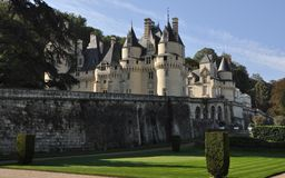 Usse Castle. Exterior of historic Usse castle, Chateau d'Usse, Loire Valley, France Royalty Free Stock Photos