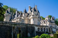 Usse castle from the garden royalty free stock images