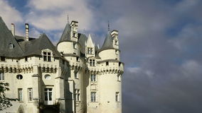 Usse Castle, Loire Valley, France --also known as Sleeping Beauty's Castle stock video footage
