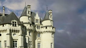 Usse Castle, Loire Valley, France --also known as Sleeping Beauty`s Castle stock footage