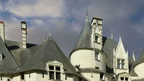 Usse Castle, Loire Valley, France --also known as Sleeping Beauty`s Castle stock video footage