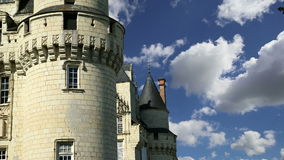 Usse Castle, Loire Valley, France --also known as Sleeping Beauty`s Castle.  stock footage