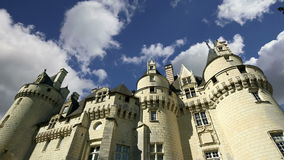 Usse Castle, Loire Valley, France --also known as Sleeping Beauty`s Castle.  stock video