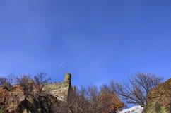 Ussel bråkdel av Chatillon, Valle D ` Aosta, Italien 11 Februari 2018 Fotografering för Bildbyråer