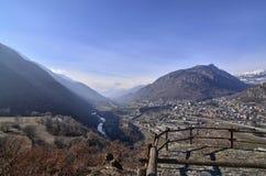 Ussel-Bruch von Chatillon, ` Aosta, Italien Valle d am 11. Februar 2018 Stockbild