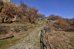 Ussel-Bruch von Chatillon, ` Aosta, Italien Valle d am 11. Februar 2018 Lizenzfreie Stockfotos