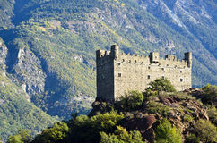 Ussel slott - Chatillon (Aosta Valley) Arkivfoton