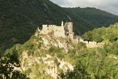 Usson castle in Pyrenees Royalty Free Stock Image