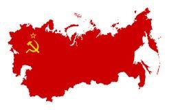 USSR-översiktskontur vektor illustrationer