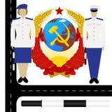 USSR-1的交警 向量例证
