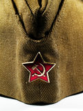 USSR. Close up of a russian kepi Stock Photos
