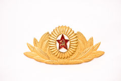 USSR Army officer cap  badge Royalty Free Stock Photography
