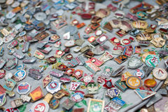 USSR badges Royalty Free Stock Photography
