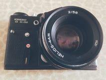 USSR Camera Zenit. Old camera Zenit Stock Photos